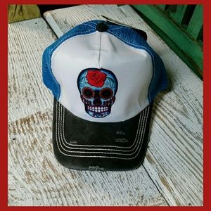 Accessories - ☠SUGAR SKULL BASEBALL HAT☠